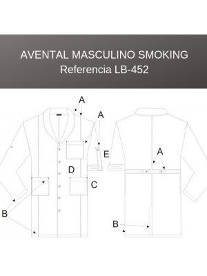Avental Masculino Smoking