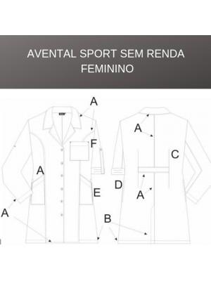 Avental Sport s/Renda Feminino