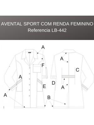 Avental Sport c/Renda Feminino